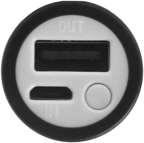 Semoic Single USB Port 1x 18650 Battery DIY Holder Power Bank Case Box 3 Mode Flashlight for Cell Phone Camping Hiking Silver