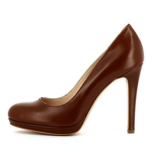 Lisse Escarpins Cognac Evita Cristina Femme Cuir Shoes BaxnXqnA7
