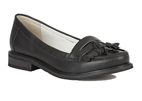 Señoras/niñas Dolcis 'Frankfurt' Loafers negro