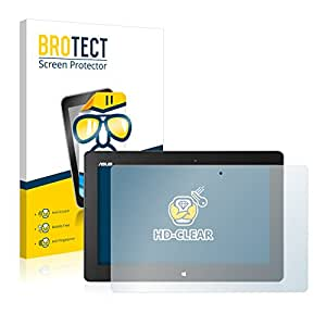 2x BROTECT HD-Clear Protector Pantalla Asus ME400C VivoTab Smart Película Protectora – Transparente, Anti-Huellas