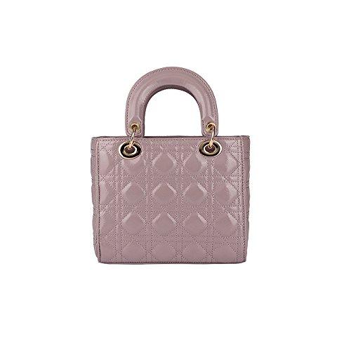 Olyphy Designer Patent Leather Top Handle Handbag for Women, Fashion PU Small Shoulder Handbag, Classic Crossbody Purse (Purple)
