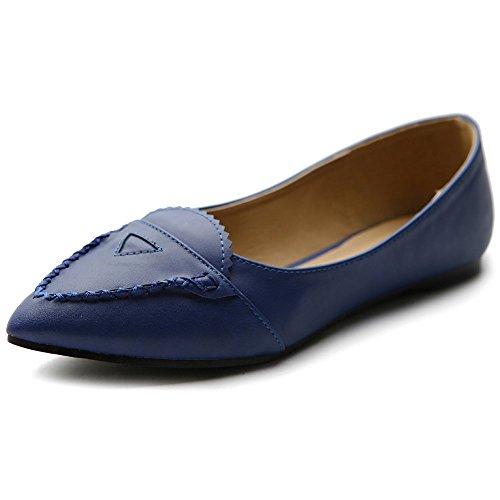 Pointed Comfort Ballet Shoe Color Women's Ollio Toe Multi Flat Blue Fxq76tXO