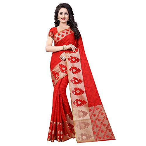 Li Te Ra Women's Traditional Cotton Silk Banarasi Saree Free Size - Te Li