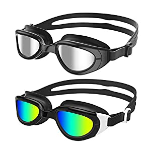 Well-Being-Matters 41T7AphquSL._SS300_ Aegend Polarized Kids Swim Goggles, 2 Pack Swimming Goggles for Boys & Girls, UV Protection, Anti-Fog, Leak Proof, Soft…