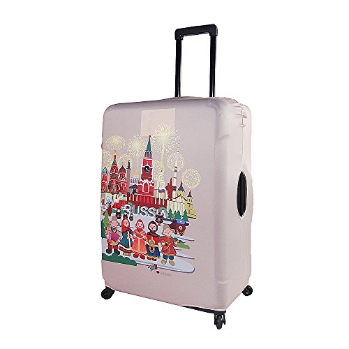 Travel Washable Protective Suitcase Luggage Cover L Size Fits 26 28 30 Inch Sporting Goods