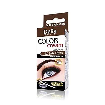 Delia Henna Color Cream Eyebrow Professional Tint Kit Set Dark