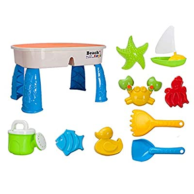 Deerbb Sand Water Play Table for Kids 2 in 1, Including Beach Toys Accesaries, Best for Boys Girls Summer Fun: Toys & Games
