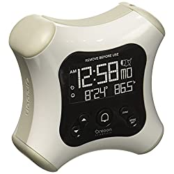 Oregon Scientific RM330P White Projection Alarm Clock with Temperature Calendar for Home Office Bedroom