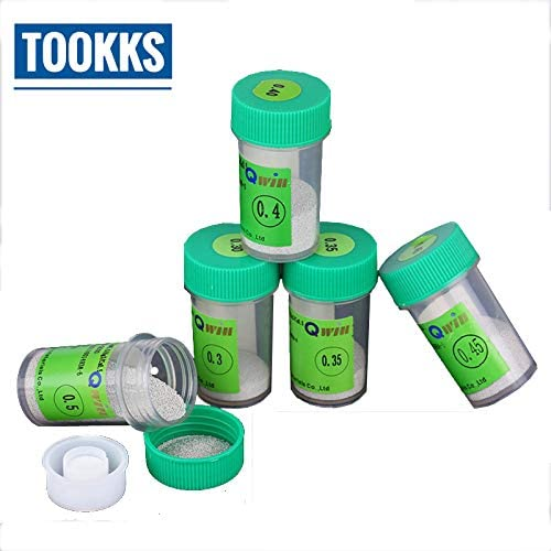 New 250K pcs//Bottle 0.45mm 0.45 0.45 mm QWIN BGA Solder Leaded Reballing Balls