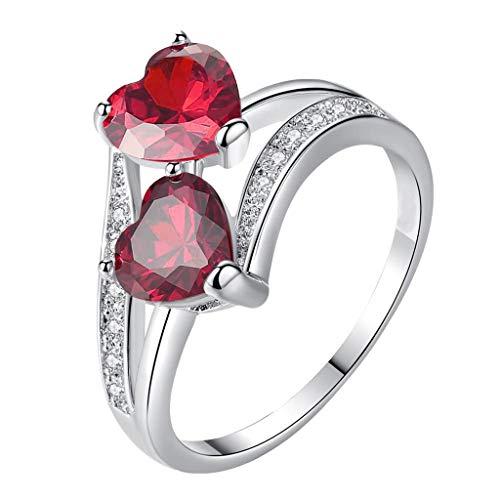 Jonerytime_Ring for Women Cubic Diamond Eternity Engagement Wedding Band Gift Rings,Wedding Jewelry,Women Ring (8, A) from Jonerytime_ Jewelry & Watches