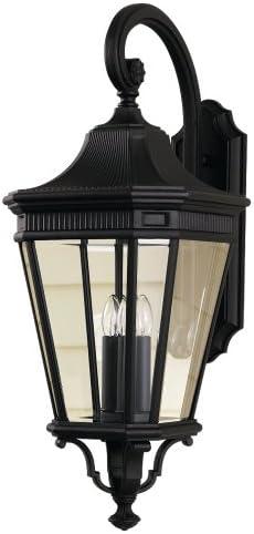 Feiss OL5404BK Cotswold Lane Outdoor Patio Lighting Wall Lantern