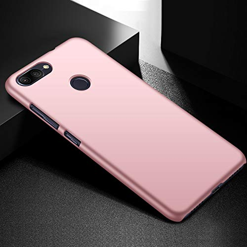 SHIWELY Ultra Thin ASUS Zenfone Max Plus ZB570TL Case, Hard Polycarbonate PC Slim Fit Silky Smooth Phone Cover Case with Matte Finish for ASUS Zenfone Max Plus ZB570TL(Rose Gold)