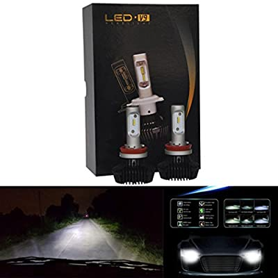 Car Light,2PC For Philips LED Chips 60W 12000LM H4 9003 HB2 Headlight Kit Beam Bulbs 6500K,Tuscom