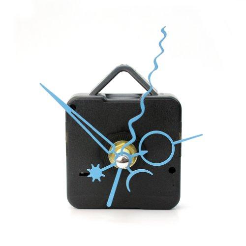 ReFaXi Black Quartz Wall Clock Movement with Blue Hands Mechanism Repair Parts DIY Tool Kit