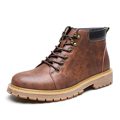 Giles Jones Motorcycle Boots for Men Fashion Retro Antiskid Comfort Combat Boots