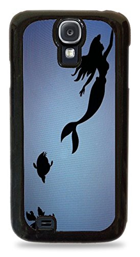 Trendy Accessories The Little Mermaid Princess Design Pattern Cover Black Silicone Case for Samsung Galaxy S4