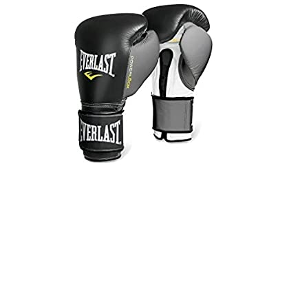 Image of Boxing Everlast 2200655 Powerlock Training Gloves (Hook & Loop) Black/Grey 14 0Z