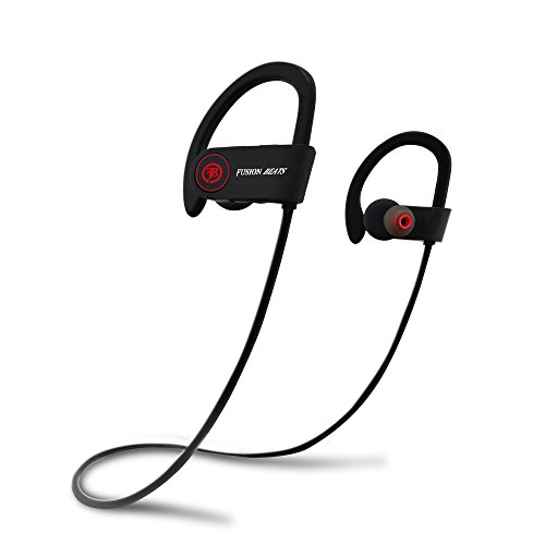 Fusion Beats Bluetooth Headphones / High Quality, Noise Cancelling Wireless Earphones / Sweatproof / Premium Sound Bass / Secure Fit for SPORT / 8 Hrs. Play Time w/ Built-in Mic