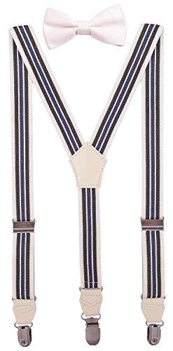 CEAJOO Toddler Boys' Bow Tie and Suspenders Set Adjustable Y Back 24