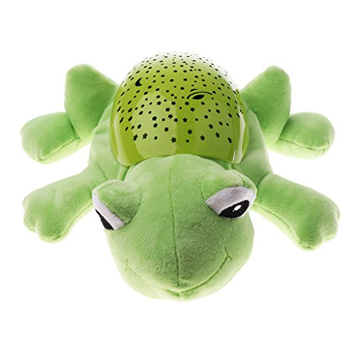 Fityle Cartoon Projector Room Night Light Music Star Lamp Plush Dolls Kids Gift - Frog, as described by Fityle