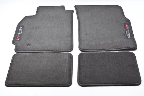 2005 2006 GENUINE MITSUBISHI EVOLUTION EVO VIII IX MR BLACK OEM CARPET FLOOR MATS ()