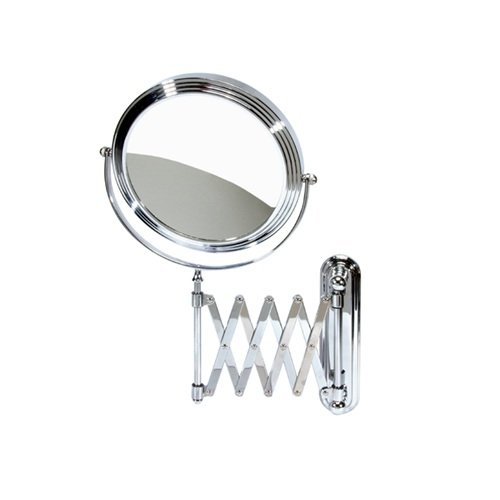 Harry D Koenig & Co Accordion Wall Mount Mirror, Round, 8 Inch (Wall Accordian Mirror)