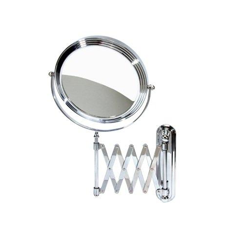 Harry D Koenig & Co Accordion Wall Mount Mirror, Round, 8 Inch