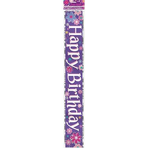 12ft Foil Blossom Birthday Banner