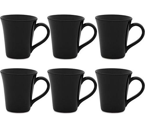 - Oxford Daily Tulip Mugs- Set of 6 (Black)