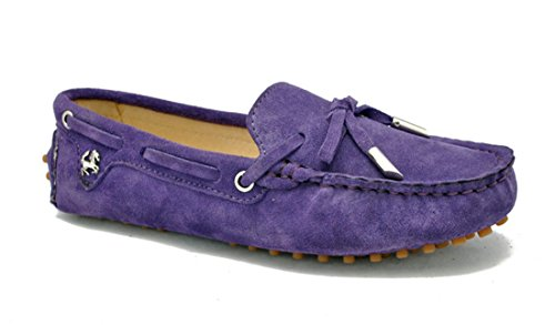 LL STUDIO Womens Casual Bowknot Baby Purple Suede/Leather Driving Walking Penny Loafers Boat Shoes 6.5 M US -  LL STUDIO-YIBU9602-Baby Purple-Suede37