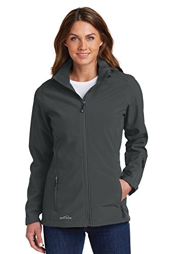 Eddie Bauer - Ladies Hooded Soft Shell Parka, Grey Steel, Large - Hooded Parka Lightweight