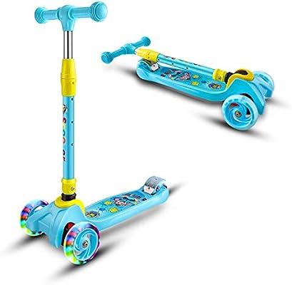 LED Light-Up Wheels Adjustable Kids Three Wheel Kick Scooter Children Aged 3+