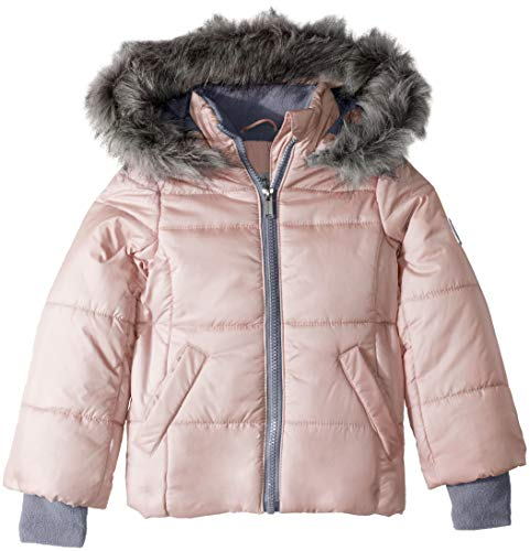 Calvin Klein Toddler Girls' Glacial Puffer Jacket, Soft Pink, 3T