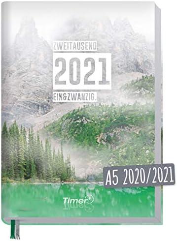 Chäff-Timer Classic A5 Kalender 2020/2021 [Bergsee] Terminplaner 18 Monate: Juli 2020 bis Dez. 2021 | Wochenkalender, Organizer, Terminkalender mit Wochenplaner - nachhaltig & klimaneutral