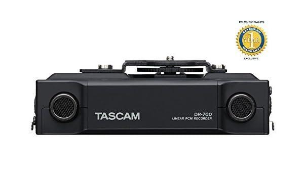 Tascam Grabadora DR-70D Liner PCM para DSLR: Amazon.es: Instrumentos musicales