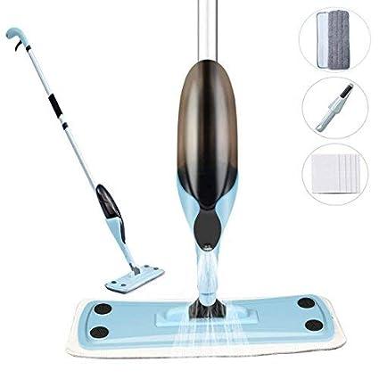 Rixow - Mopa azul claro con espray, limpiaparabrisas integrado para ...