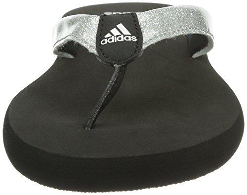 adidas Chilwy Basic K - Sandalias de material sintético infantil negro - Schwarz (Black 1 / Metallic Silver / Metallic Silver)