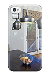 Case Cover Transitional Kitchen With Sculptural Pendant Lights/ Fashionable Case For Iphone 4/4s