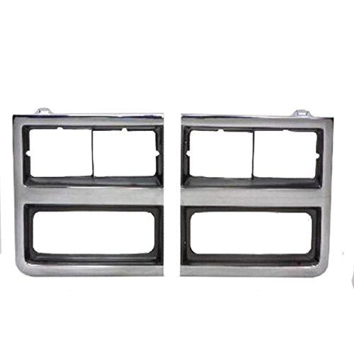 QP G0704-b Chevy Blazer Dark Gray Driver Headlight Door Grille