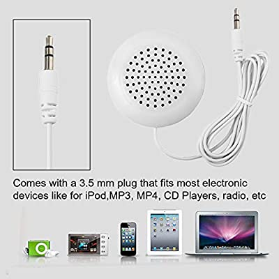DIY 3.5mm Mini Louder Speakers Music Pillow Stereo Speaker for MP3 Phone for iPhone for iPod Touch CD Sleeping Use