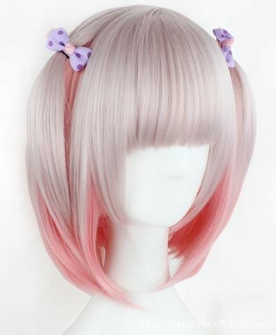 Peluca rosa para mujer
