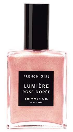 (French Girl - Organic Lumiere Rose Doree Shimmer Oil (2 oz | 60 ml))