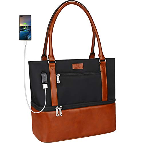 MONSTINA Lunch Bag,Lunch Tote Bag for Women,Large Lunch Box with Waterproof Insulated,USB Reusable Lunch Pouch for Office School