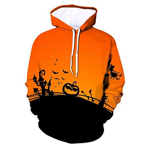 Steelers Halloween Memes (Mens Tops Halloween Pumpkin 3D Print Hooded Party Long Sleeve Hoodie)