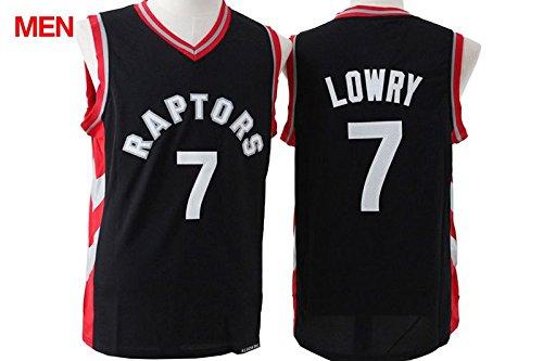 Mens Brand New Jersey, Toronto Raptors #7 Kyle Lowry Black Red XXL