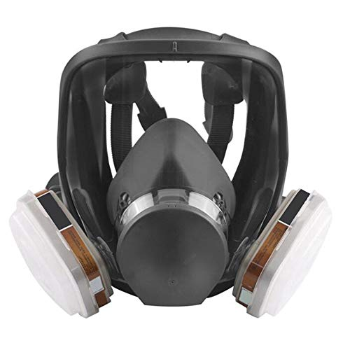 zinnor Full Face Respirator Organic Vapor Gas mask with Activated Carbon Respirator for Paint, Dust, Chemical -