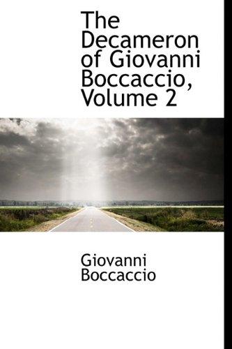 Read Online The Decameron of Giovanni Boccaccio, Volume 2 pdf