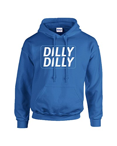 Trenz Shirt Company Funny Beer Drinking Dilly Dilly Adult Hooded Sweatshirt-Royal-Small