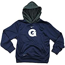 Nike NCAA Big Boys Youth Georgetown Hoyas ThermaFit Performace Fleece Pullover Hoodie, Navy