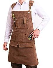 Gereedschap Schort voor mannen, Waxed Canvas Carpenter Apron, Heavy Duty Canvas Carpenters schorten, voor Houtwerk Kamer Craft Workshop Keuken